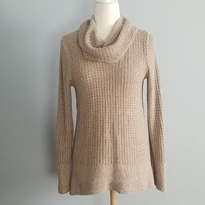 Eight Eight Eight Beige Cowl Neck Sweater Size M